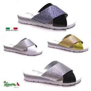 nuovo prodotto nuovo concetto grande vendita OFFERTA Pantofole ciabatte donna scalzati MADEinITALY aperte ...