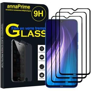 3-Vitre-Film-Verre-Trempe-Protecteur-d-039-ecran-NOIR-Xiaomi-Redmi-Note-8-6-3-034