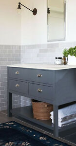 Painted Wash Stand 800mm Wide 3 Drawer Cabinet Bathroom Cabinet Ebay
