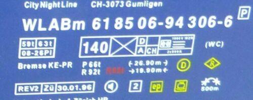 Schlafwagen Sleeperette HERIS NEU 1:87 LJ1 CNL 3 tlg Sammeledition No3 Fahrrad