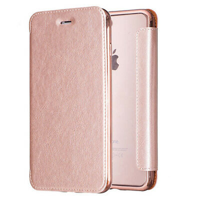Luxury Leather Clear TPU Back Card Wallet Flip Case Cover for iPhone 7 6S 6 Plus