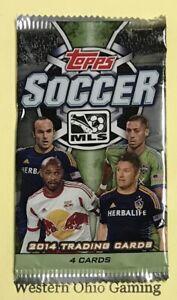 2014-Topps-MLS-Soccer-Pack-NEW-4-Cards-Per-Pack-Football