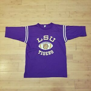 Vintage-LSU-Tigers-Shirt-Single-Stitch-NCAA-Football-Louisiana-Men-039-s-Large
