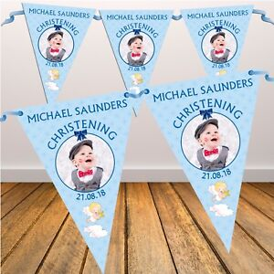 Personalised-Boys-Blue-Christening-Baptism-Flag-Banner-Bunting-N3-10-Flags