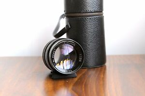 KIMUNOR-135mm-f-3-5-for-Pentax-M42-screw-mount-w-leather-Case-Smooth-Aperture