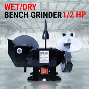 "8"" 6"" Wet & Dry Bench Grinder 1/2HP 375W 200mm Knife Sharpener Power Tool Indust"