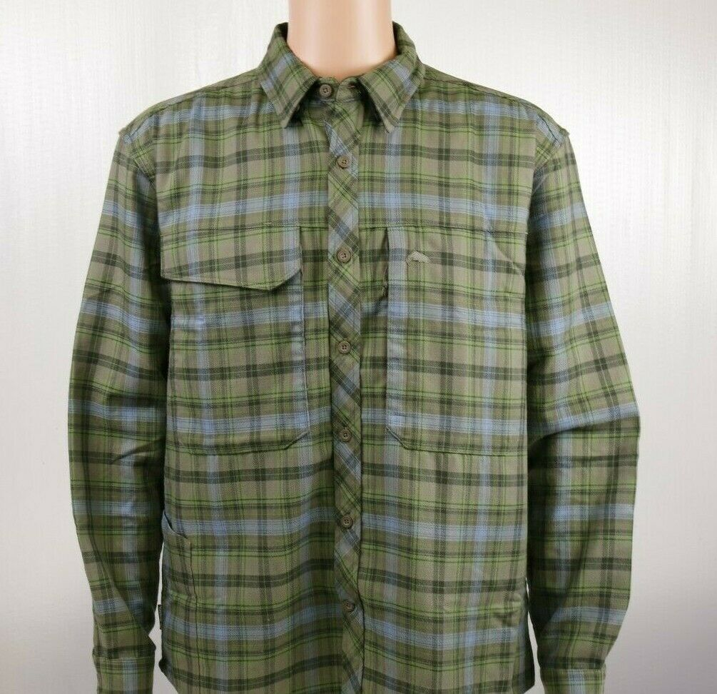 SIMMS Guide Flannel Long Sleeve Shirt  L, XL - Farbe Timber Plaid - ON SALE NOW
