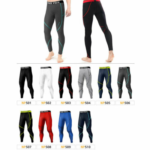 JustOneStyle New 016 Take Five Skin Tights Compression Leggings Base Layer White Running Pants Mens S 2XL