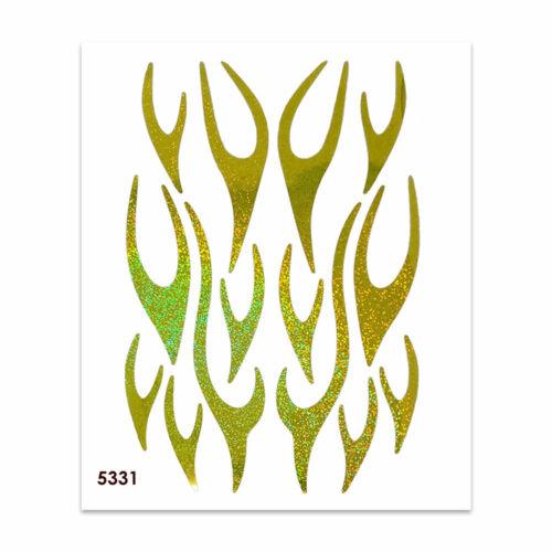 Adesivi Stickers Fiamme Gialle Glitter 35 x 25 cm