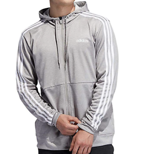 Adidas-Men-039-s-Tech-Fleece-Full-Zip-Hoodie-GRAY-and-NAVY-Sizes-and-Colors-Variety