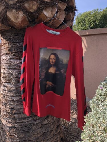 Off-White Mona Lisa t shirt longsleeve red