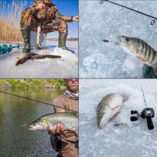 Goture Fishing Jig Metal Spoon Lures Crankbaits Jigging Hard Bait Winter Ice Jig
