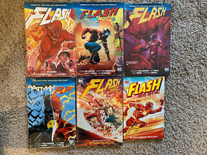 New Flash Rebirth Deluxe Graphic Novel Lot Hardcover TPB Vol 1 2 3 4 5 6 Batman