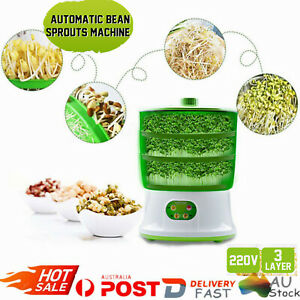 3-Layer Automatic Homemade Multifunctional Bean Seed Sprouts Machine 220V AU