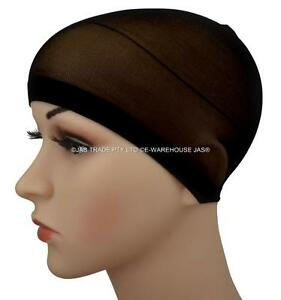 2 spandex wig liner wave head stocking cap durag hair control