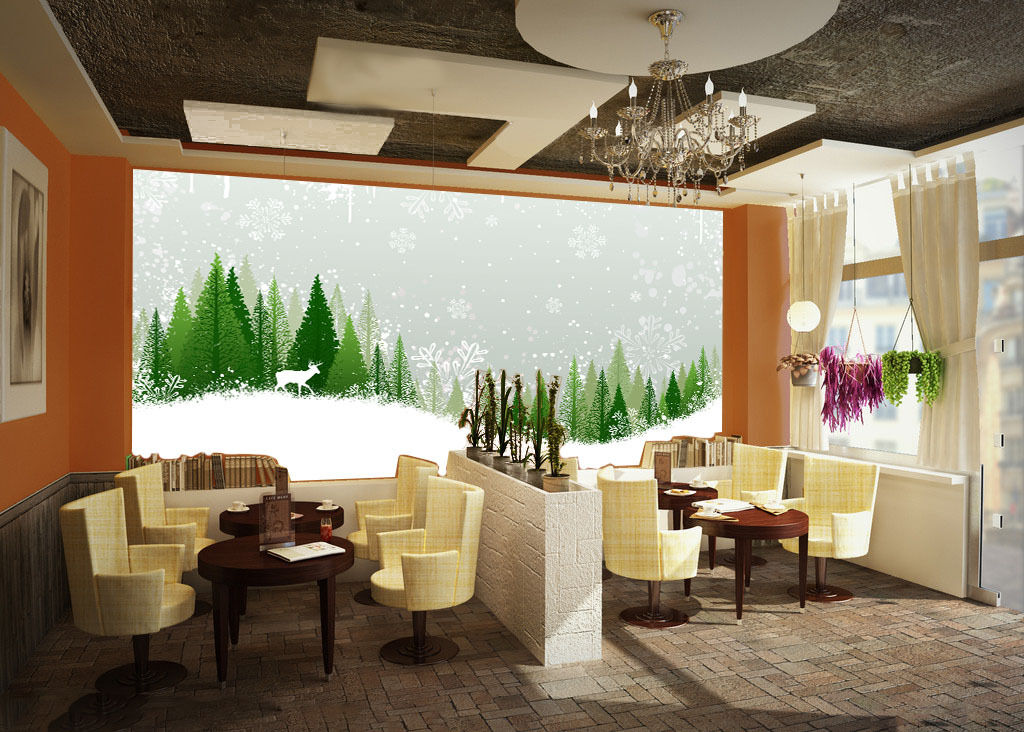 3D Snowing Forest 415 Paper Wall Print Wall Decal Wall Deco Indoor Murals