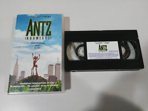 ANTZ-HORMIGAZ-VHS-CINTA-TAPE-EDICION-ESPANA-DREAMWORKS-CASTELLANO-2T
