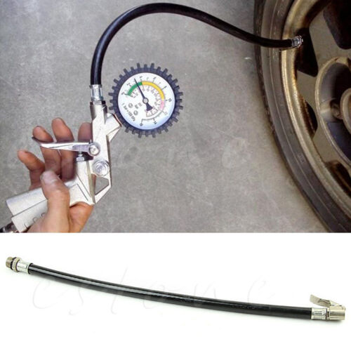 Bicycle Motorcycle  Bike Car Flexible Clip On Air Tyre Tire Chuck Inflator Hose