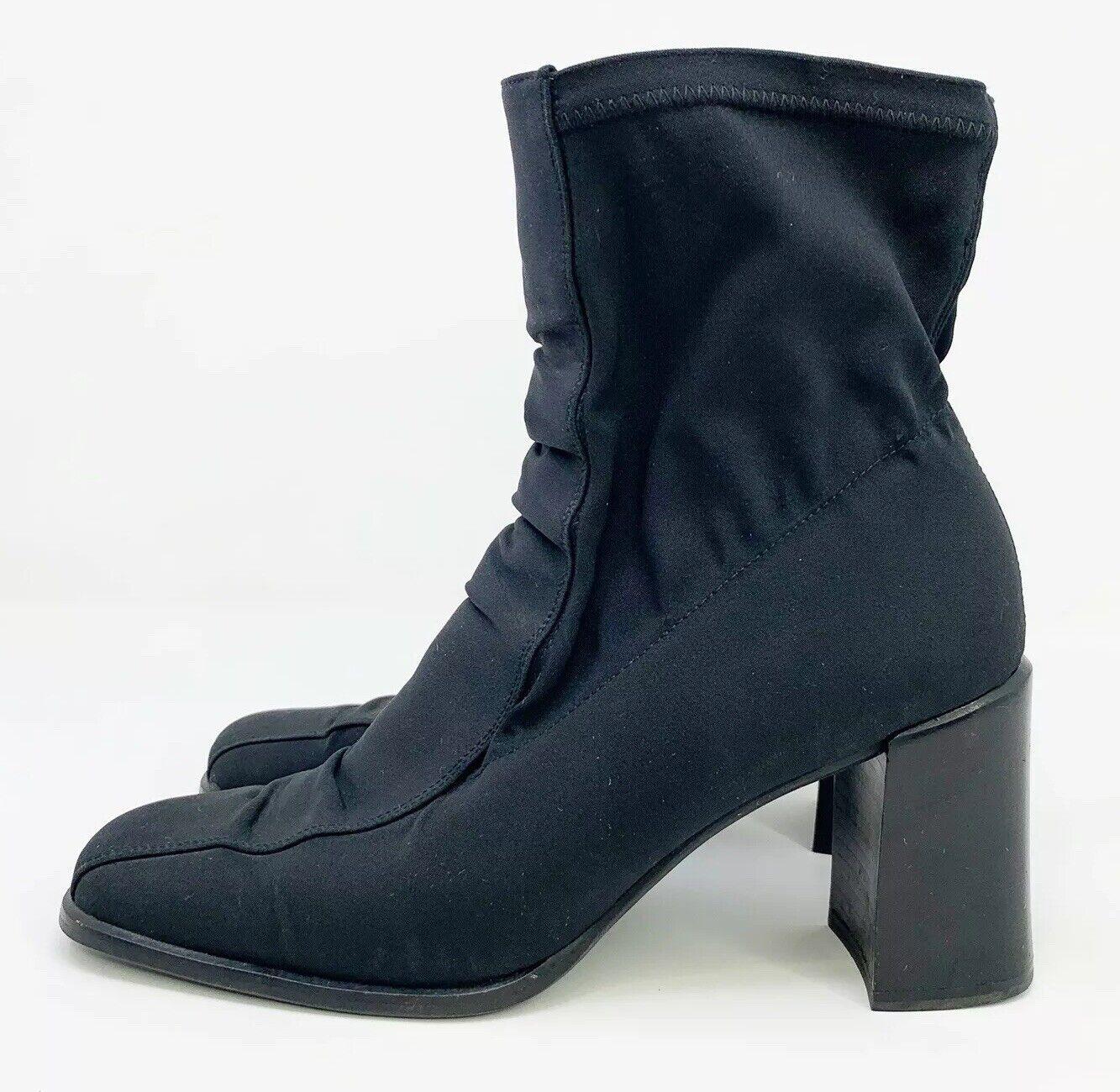 Women's Paul Green Munchen Nylon Heel Boots Elastic Ankle Sz US 8.5 UK 5.5