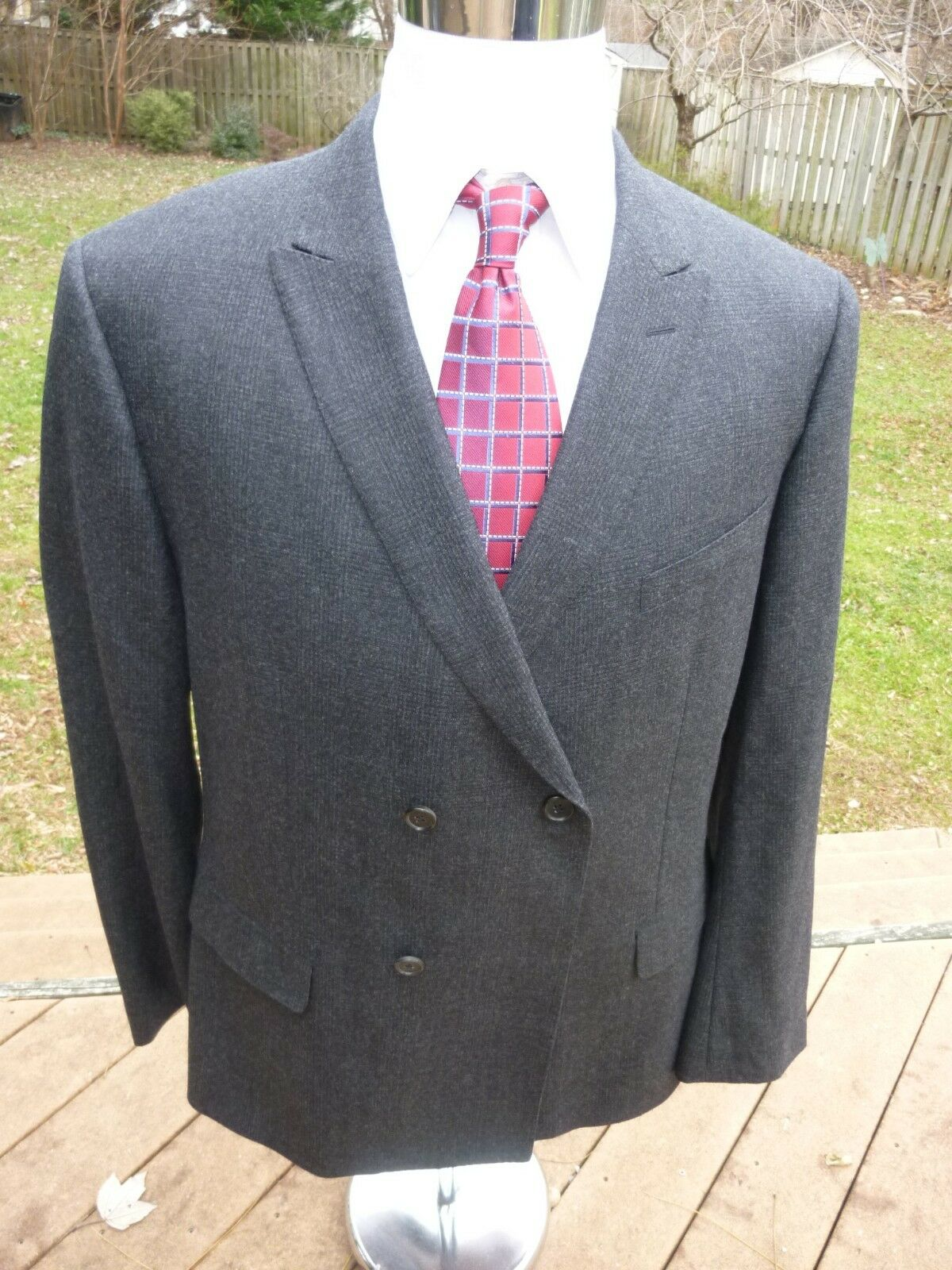 NEW  Banana Republic Monogram CHARCOAL DBL Breast Suit 48R Wool 40Wx32 Dual Vent