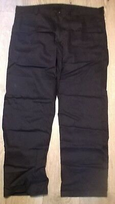 TR279 mens navy blue work smart tough warm thermal NEW trousers Long leg