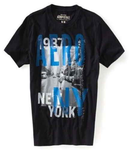 Aeropostale Graphic Tee T-Shirt M//L Black//White M//L