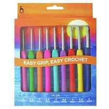Pony Easy Grip Crochet Hook Set - 9 Hooks sizes 2mm - 6mm