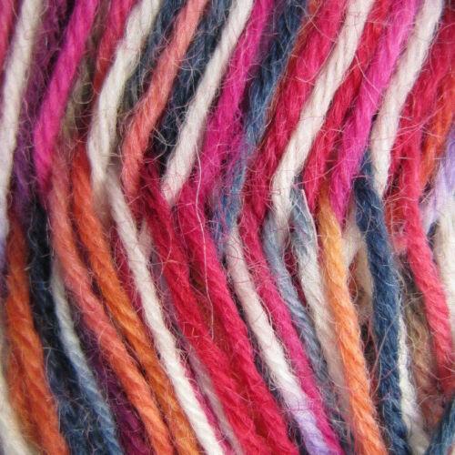 41320 50g ball WOOL RICH SOCK YARN Sock WOOL yarn BLUE//RED harmony