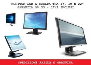 """Monitor Schermo LCD per pc fisso o videosorveglianza dvr 17"""" 19"""" 22"""" vari marchi"""