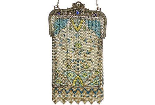 1920s Mandalian Purse w/ Jeweled Frame