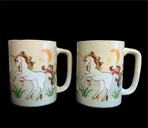 Vintage-Otagiri-Unicorn-Mugs
