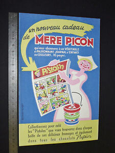 BUVARD-1956-1959-MERE-PICON-ST-FELIX-HAUTE-SAVOIE-CREME-DE-GRUYERE-PISTOLIN