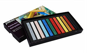 Pebeo-Artist-039-s-Hard-Square-Pastels-Box-Set-12-Assorted-Colours