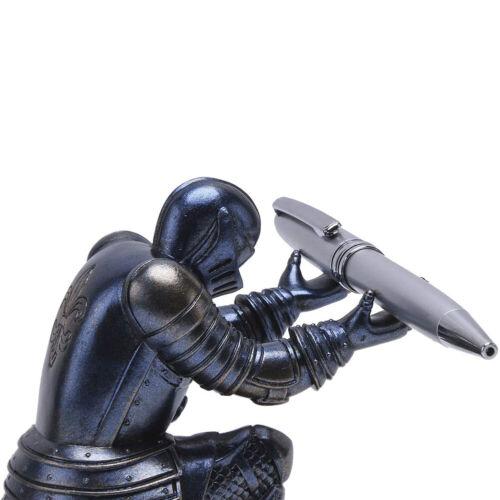 Creative Knight Soldier Figurine Pen Holder Pencil Stand Office Desk Organizer