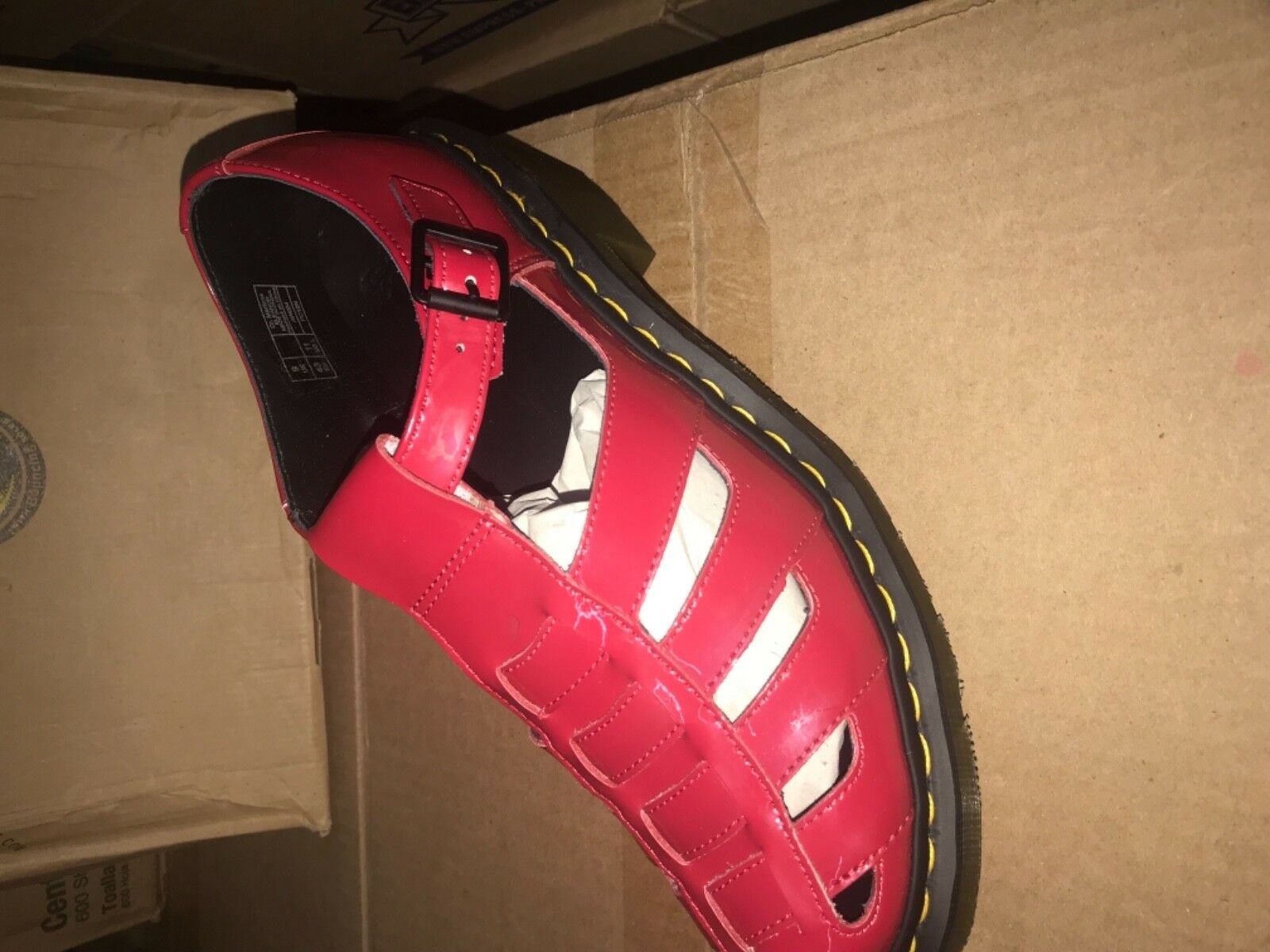 Dr martens sandals  Eleanor red patent lamper women 11