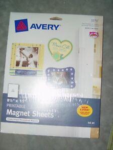 photo regarding Avery Printable Magnet Sheets named 5 White Printable Magnet Sheets 3270 Avery Inkjet 8 1/2\