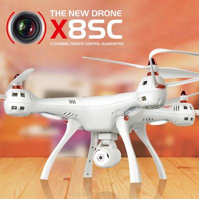 RTF Syma X8SC RC Drohne 2.4Ghz 6-Achsen-Gyro 2MP HD Kamera-Set Höhenlage