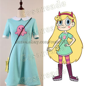 Image is loading Star-vs-the-Forces-of-Evil-Magic-Cosplay-  sc 1 st  eBay & Star vs.the Forces of Evil Magic Cosplay Princess Star Costume ...