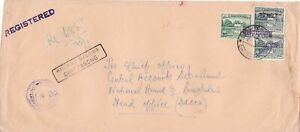 bangladesh overprints on pakistan early stamps cover ref 12817