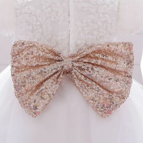 New Baby Clothes  Cute Sequined Belt Bow Girls Party For Kid 1-2 Years Old Dress