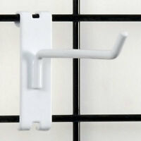 """Count Of 100 Retails White Gridwall Hook 6"""" Long - 1/4"""" Wire"""