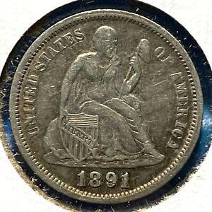 1891-O 10C Liberty Seated Dime (61362)