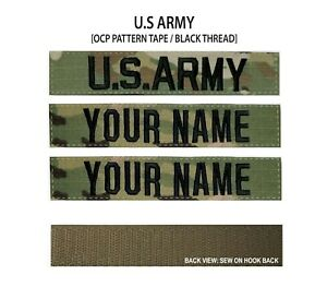 Hook Fastener Backing US ARMY Branch Name Tape OCP
