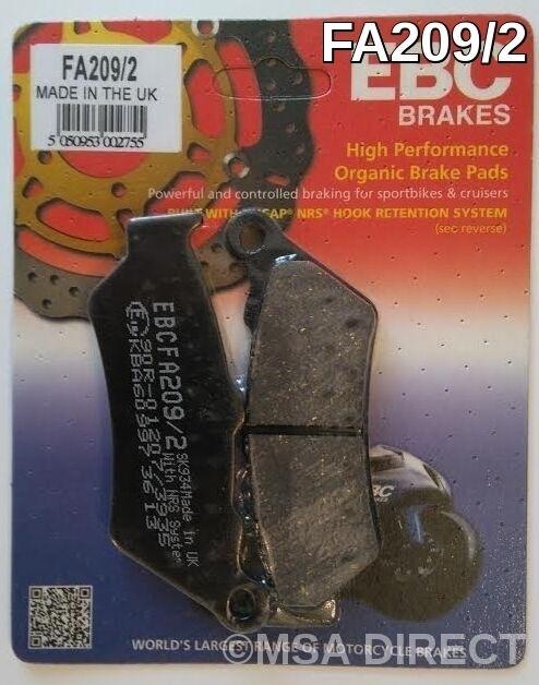 EBC Organic REAR Disc Brake Pads 1 Set Fits MOTORRAD GUZZI MGX 21 16 to 21