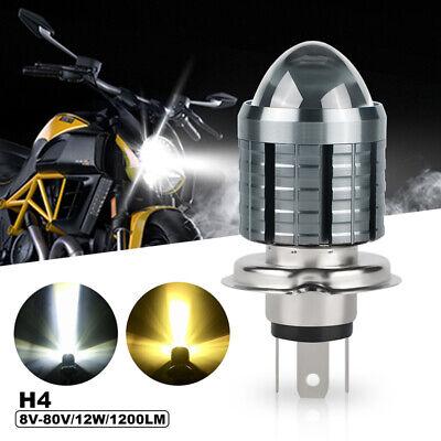 H4 9003 HB2 Hi//Low Beam LED Headlight Switchback Motorcycle Bulb White//Yellow