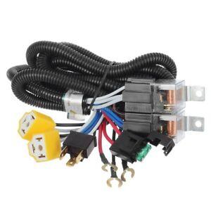 1x ceramic h4 headlight relay wiring harness 2 headlamp light bulb rh ebay com