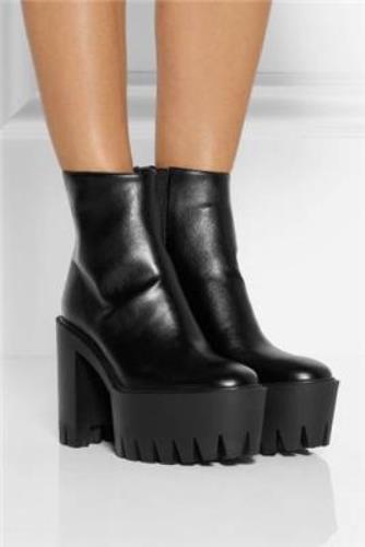 STELLA MCCARTNEY Black Kristy Chunky Chunky Kristy Platform Boots Size / 4e4f13