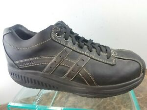 Details about Skechers Fitness Shape Ups Black Leather Casual Exercise Toning Shoes Mens 9.5