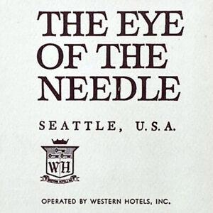 Vintage 1962 Space The Eye Of The Needle Restaurant Menu Western Hotels Seattle
