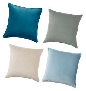Details Zu New Sanela Cushion Cover Beige Grey Light Blue Dark Turquoise 65 X 65 Cm
